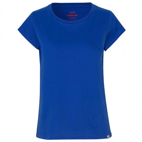 Mads Nørgaard T-Shirt, Teasy Organic, Blue Mads Nørgaard dame t shirt