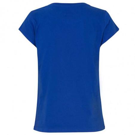Mads Nørgaard T-Shirt, Teasy Organic, Blue Mads Nørgaard dame t shirt ryg