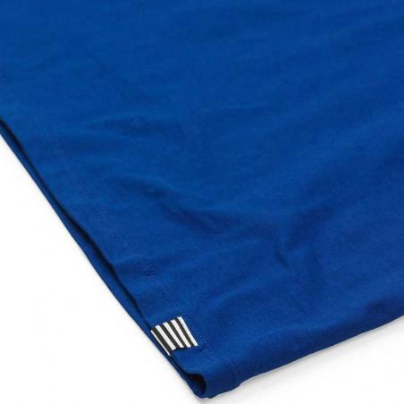 Mads Nørgaard T-Shirt, Teasy Organic, Blue Mads Nørgaard dame t shirt detalje