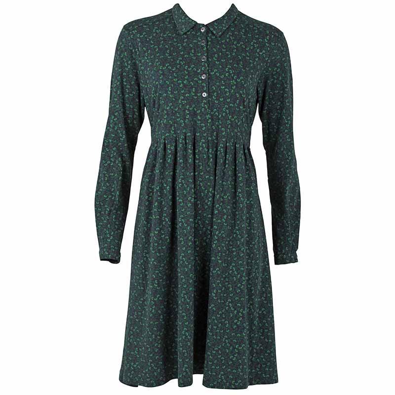 Danefæ kjole, finest organic, dark navy fleurie fra danefæ fra superlove