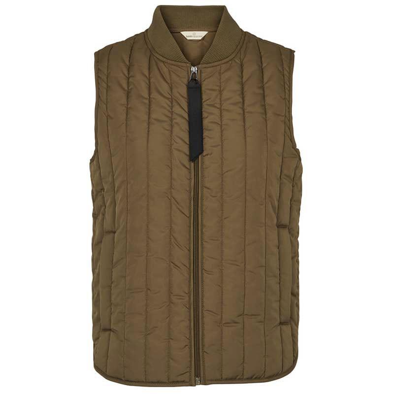 Basic Apparel Vest, Louisa Short, Capers Green Quiltet vest