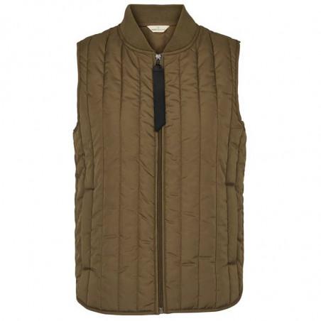 Basic Apparel Vest, Louisa Short vets jackets, Capers Green Quiltet vest