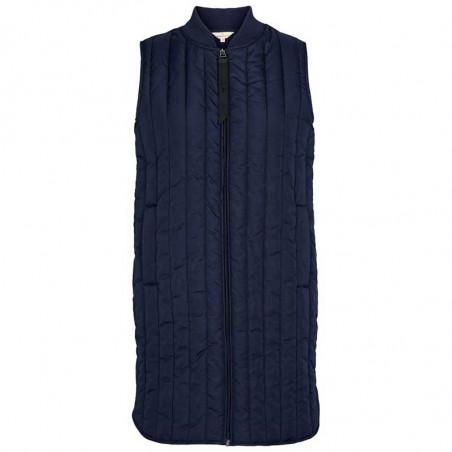 Basic Apparel Vest, Louisa, Navy Lang quilt vest