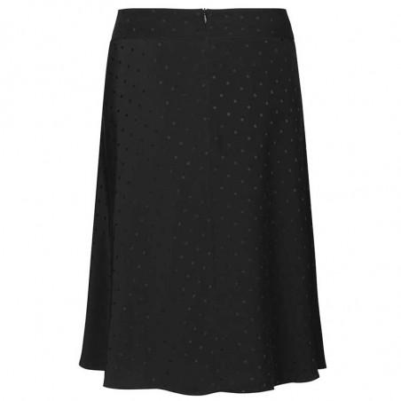 Mads Nørgaard Nederdel, Stelly C Drapy Skirt satin, Black bagfra