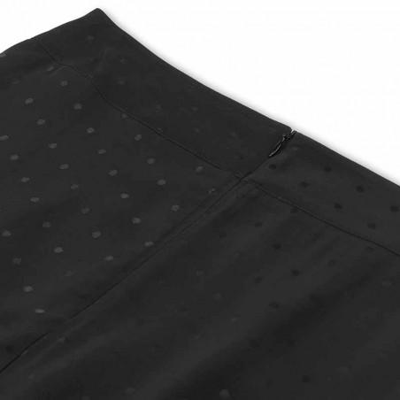 Mads Nørgaard Nederdel, Stelly C Drapy Skirt satin, Black detaljer tæt på