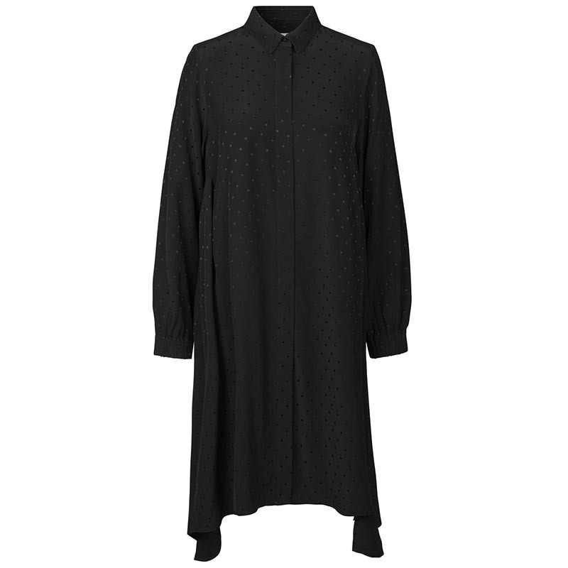 Mads nørgaard kjole, dancella drapy, black fra mads nørgaard på superlove
