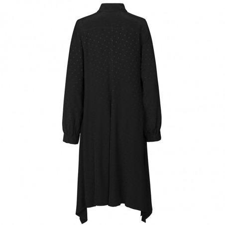 Mads Nørgaard Kjole, Dancella Drapy Satin Dress, Black bagfra