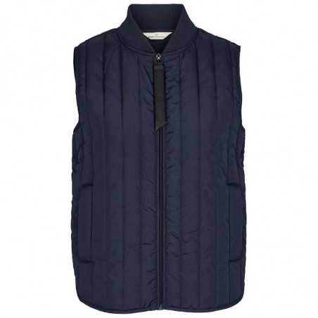 Basic Apparel Vest, Louisa Short vest jackets, Navy Dame overtøj