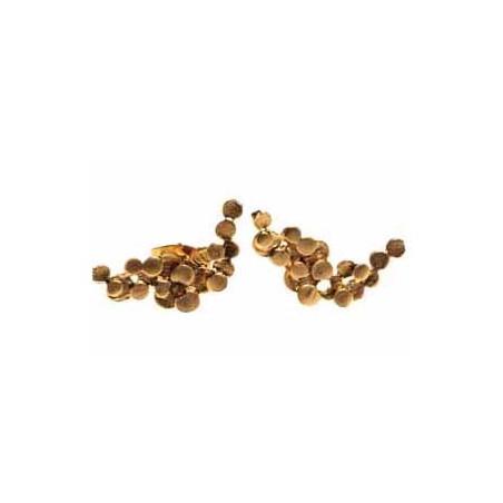 Pendulum Øreringe, Foam Small, Guld ørestik