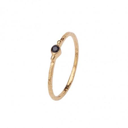 Pico Ring, Violet Crystal, Black Guld