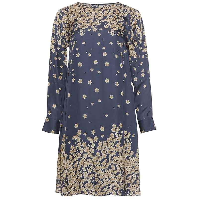 PBO Kjole, Salvo, Blue Print dress dame festkjole hverdagskjole