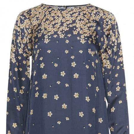 PBO Kjole, Salvo, Blue Print dress dame festkjole hverdagskjole detaljer