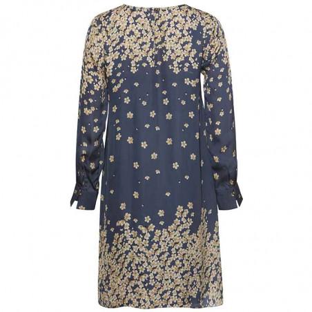 PBO Kjole, Salvo, Blue Print dress dame festkjole hverdagskjole bagfra