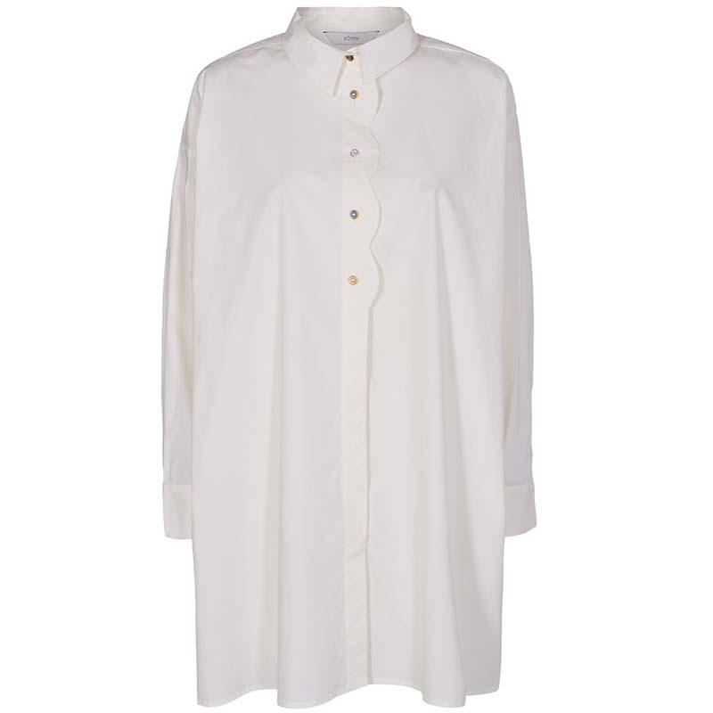 Nümph Skjorte, Nubriar, Bright White shirt dame