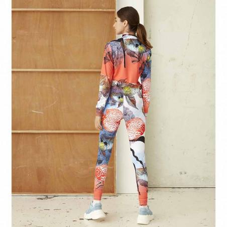 Hunkøn Bukser, Wana Yoga Legging, Fish Art Print dame på model bagfra