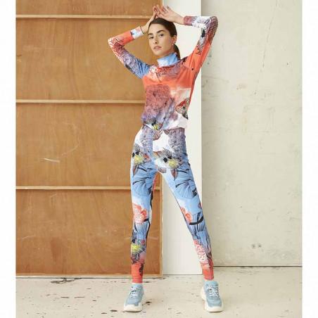 Hunkøn Bukser, Wana Yoga Legging, Fish Art Print dame på model forfra