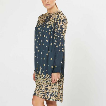 PBO Kjole, Salvo, Blue Print dress dame festkjole hverdagskjole fra siden