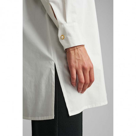 Nümph Skjorte, Nubriar, Bright White shirt dame Numph shirt slids i siden