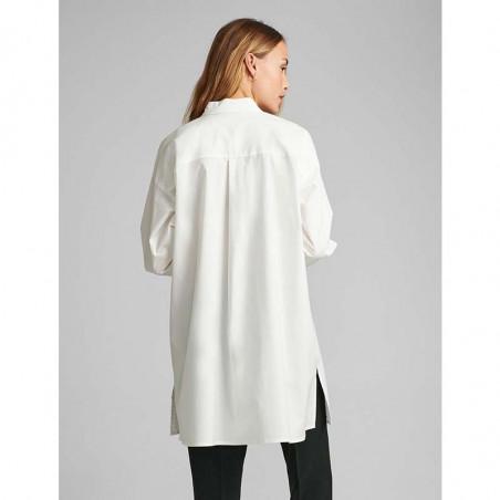 Nümph Skjorte, Nubriar, Bright White shirt dame Numph shirt white ryg