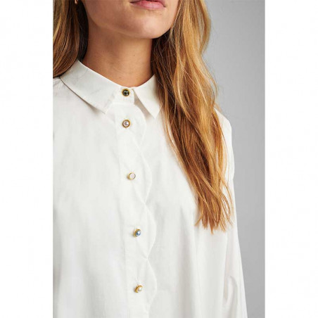 Nümph Skjorte, Nubriar, Bright White shirt dame Numph shirt white detalje