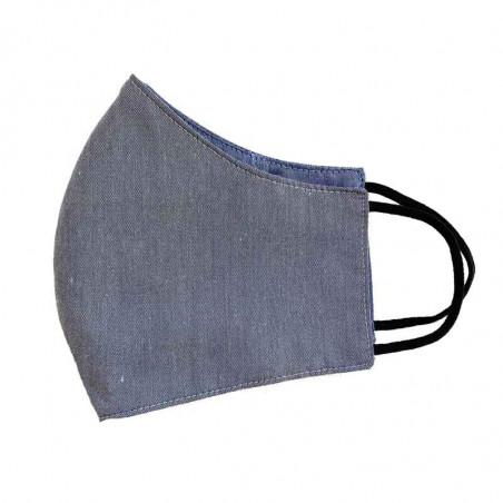 FacemaskN-mundbind-ansigtsmaske - støvet gråblå comfort-maske facemask