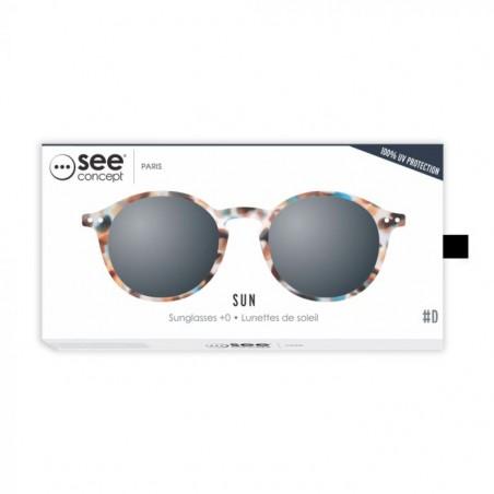 Izipizi Solbriller, D Sun, Blue Tortoise unisex briller emballage