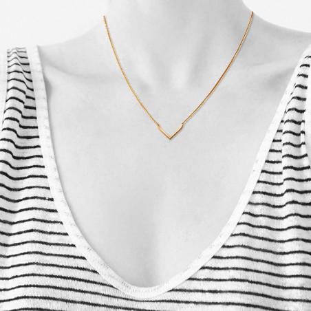 Scherning Halskæde, Spot, sølv scherning smykker på model