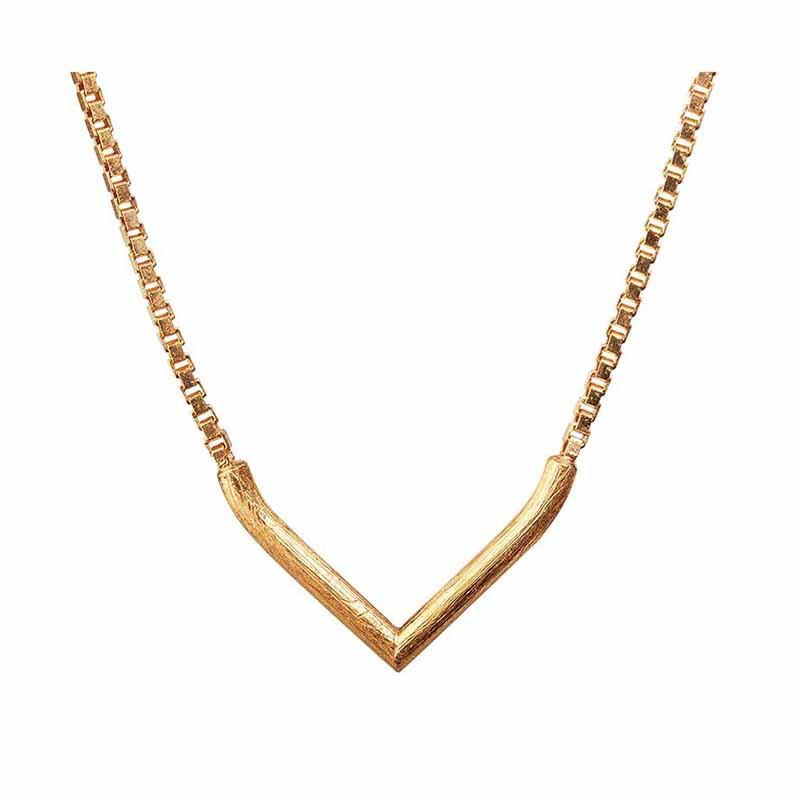 Scherning Halskæde, Lee, guld - scherning smykker