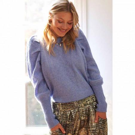 Lollys Laundry Strik, Priscilla Jumper, Light Blue Lollys Laundry Pullover på model