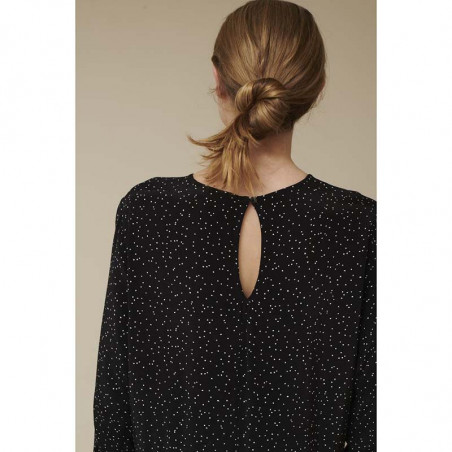 Basic Apparel Kjole, Julia, Black Basic Apparel julia dress ryg detalje