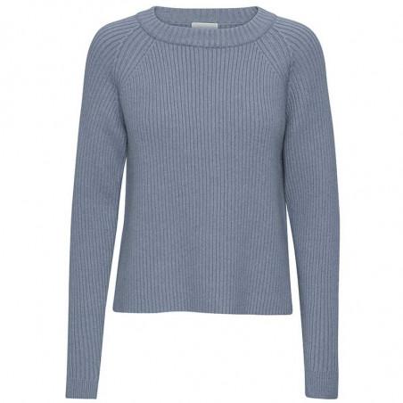Minus Strik, Ava knit pullover, Dusty Blue Minus fashion