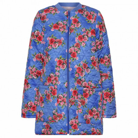 Hunkøn Jakke, Lilia, Blue Flora Hunkøn quiltet jakke Hunkøn fashion