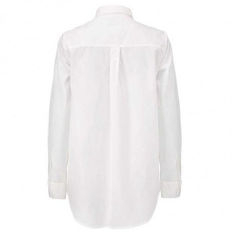 Modström Skjorte, Arthur, Off White Modstrøm hvid skjorte bagfra