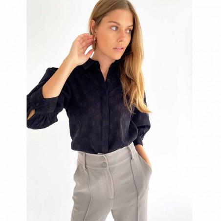 Minus Skjorte, Andora, Black Minus Shirt på model