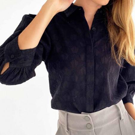 Minus Skjorte, Andora, Black Minus Shirt detalje