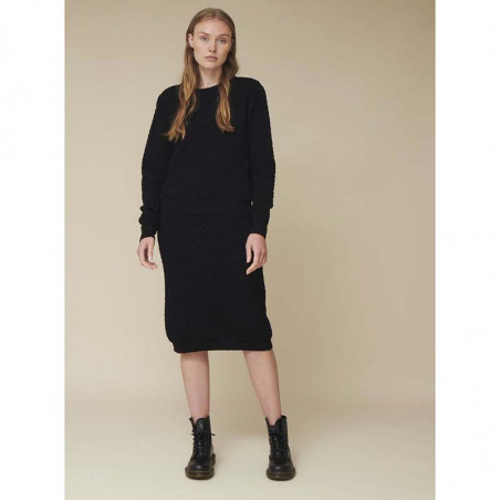 Basic Apparel Strik, Tilde Sweater, Black  Basic apparel bluse på model