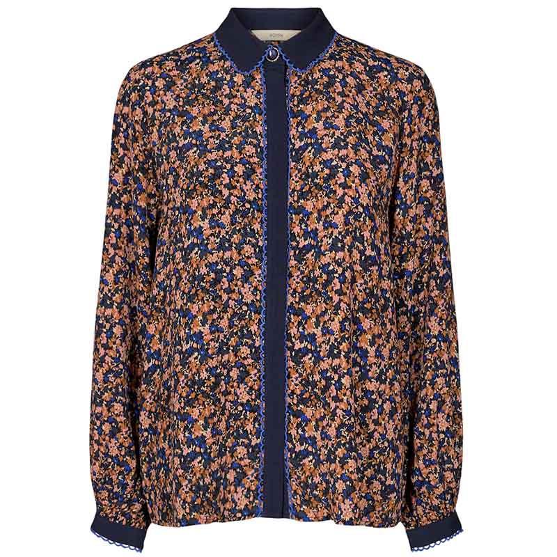 Nümph Skjorte, Nubrynna, Dazzling Blue Numph bluse