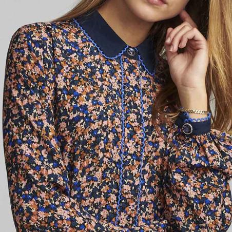 Nümph Skjorte, Nubrynna, Dazzling Blue Numph bluse detalje
