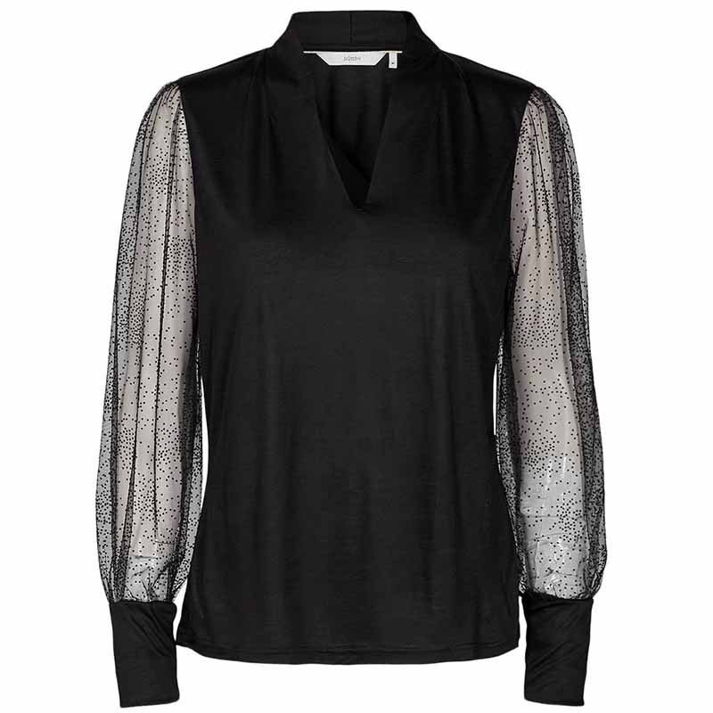 Nümph Bluse, Nublythe, Caviar Numph bluse Nümph tøj