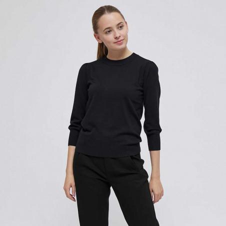 Minus Bluse, Mersin pullover black på model minus strik