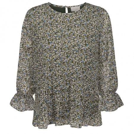 Minus Bluse, Rikka, Greenery Print Minus fashion