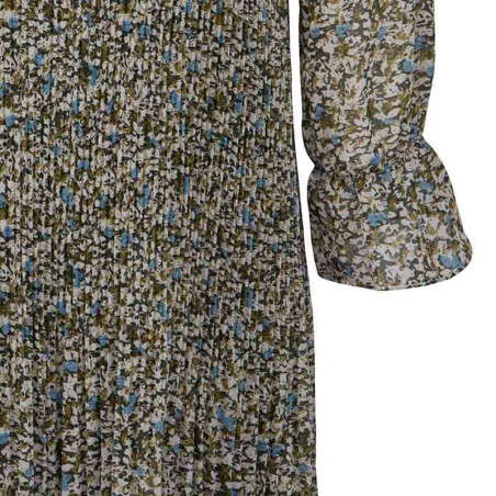 Minus Kjole, Rikka, Greenery Print Minus fashion detalje