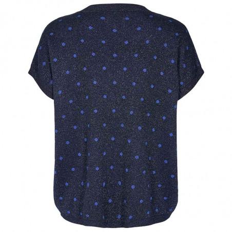 Nümph Bluse, Nudarlene, Dark Sapphire Numph bluse med prikker ryg