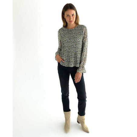 Minus Bluse, Rikka, Greenery Print Minus fashion look
