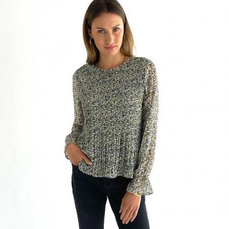 Minus Bluse, Rikka, Greenery Print Minus fashion på model