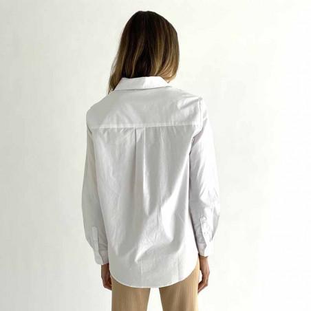 Minus Skjorte, Vaia Oversize shirt look, White ryg