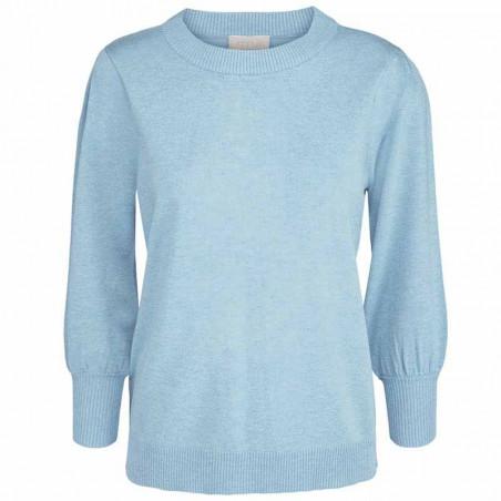 Minus Bluse, Mersin, Bounty Blue Melange Minus tøj