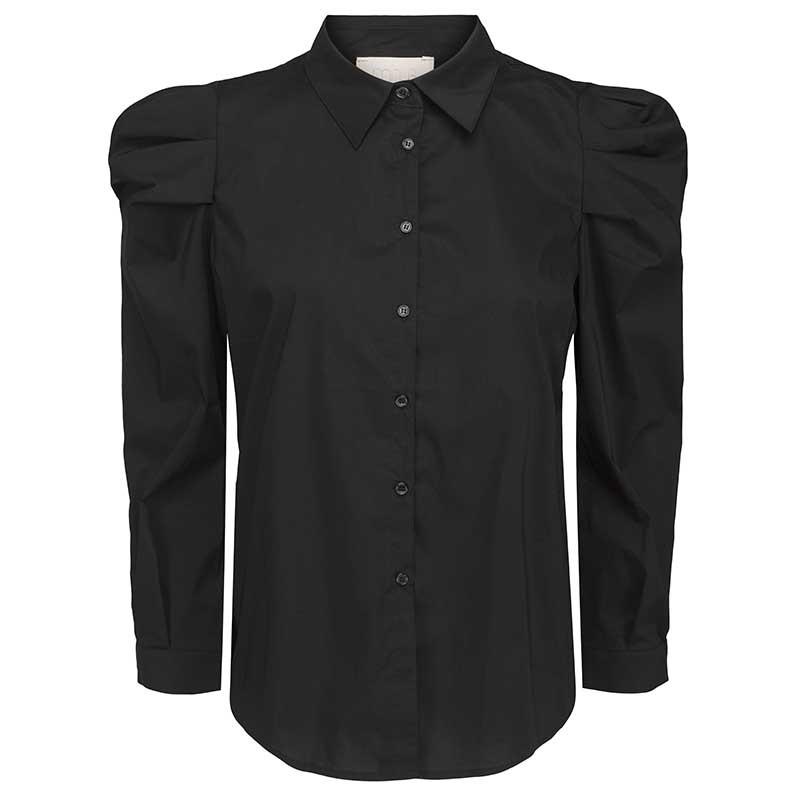 Elayna sort skjorte, Minus, forfra model