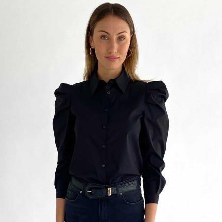 Elayna sort skjorte, Minus, bagfra model