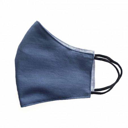 FacemaskN-mundbind-ansigtsmaske - grå kobolt comfort-maske genanveneligt mundbind.